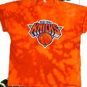 New York Knicks Basketball Bleach Dyed Tshirt